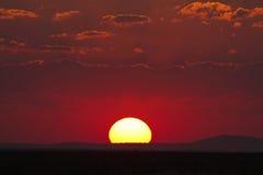 заход солнца съемки места hdr выдержки длиной обрабатываемый Стоковое Изображение RF
