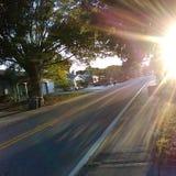 Заход солнца славы Стоковая Фотография RF
