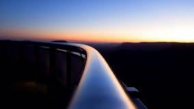 Заход солнца с извивом Стоковое Изображение RF