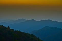 заход солнца Таиланд Стоковые Изображения RF