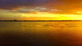 заход солнца Таиланд Стоковое Изображение