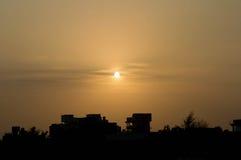 заход солнца теплый стоковая фотография