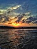 Заход солнца Техаса Стоковая Фотография RF