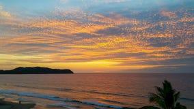Заход солнца Тихоокеанского побережья Стоковая Фотография RF