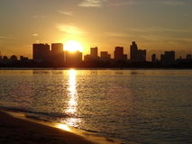 Заход солнца токио Стоковое Изображение