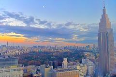 Заход солнца токио Стоковая Фотография