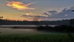 Заход солнца тумана Стоковое Изображение RF