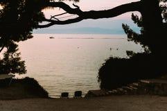 заход солнца Украина моря выдержки Крыма длинний Стоковое Фото