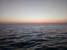 заход солнца Украина моря выдержки Крыма длинний Стоковое Изображение