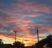 заход солнца урбанский Стоковые Изображения RF