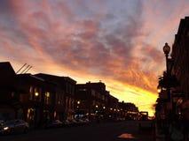 Заход солнца улицы m Стоковые Изображения RF