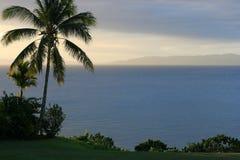 заход солнца Фиджи стоковые изображения rf
