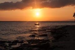 Заход солнца Фиджи Стоковое Фото