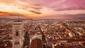 Заход солнца Флоренса Стоковое Фото