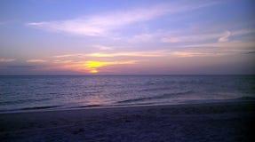 Заход солнца Флориды Стоковые Изображения RF