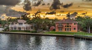 Заход солнца Флориды Стоковое Изображение