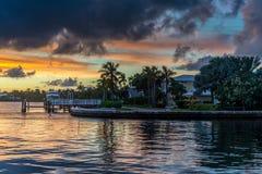 Заход солнца Флориды Стоковое Изображение RF