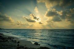 Заход солнца Хайфы Израиля стоковые фотографии rf