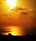 Заход солнца Хайфы Стоковые Изображения RF