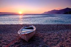 заход солнца Хорватии Стоковое фото RF
