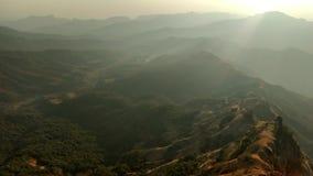 Заход солнца холма верхний Стоковое фото RF