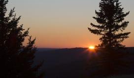 Заход солнца холмов Cypress Стоковые Изображения