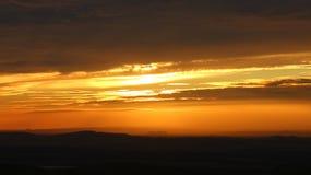 Заход солнца холмов Pentland Стоковая Фотография