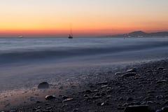 Заход солнца Чёрного моря Стоковая Фотография RF