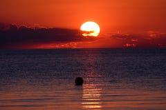 заход солнца Швеция Стоковые Фотографии RF