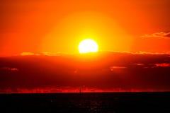 заход солнца Швеция Стоковые Фото