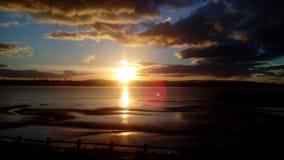 Заход солнца Шотландии Стоковая Фотография