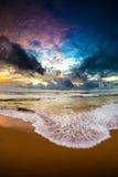 Заход солнца Шри-Ланки Стоковые Фото