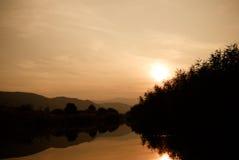 Заход солнца любит картина Стоковое Изображение