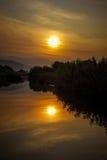 Заход солнца любит картина Стоковые Фото
