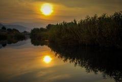 Заход солнца любит картина Стоковое Фото