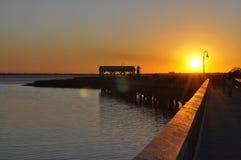 Заход солнца Южной Каролины Стоковое Фото