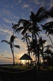 Заход солнца Южной части Тихого океана Стоковая Фотография RF