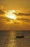 Заход солнца Южной части Тихого океана Стоковое Изображение RF