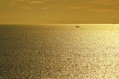 Заход солнца людей Стоковое Фото