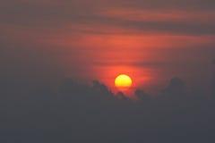 Заход солнца яичного желтка Стоковая Фотография