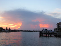 Заход солнца ядерного гриба Флориды Стоковое Изображение RF