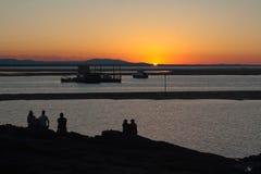заход солнца 1770 Стоковые Фотографии RF