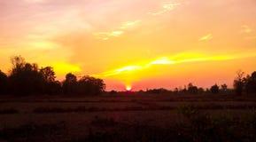 1 заход солнца Стоковые Фотографии RF
