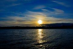 Заход солнца Стоковые Изображения
