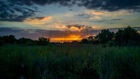 заход солнца 2 Стоковая Фотография RF