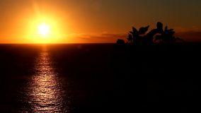 Заход солнца сток-видео
