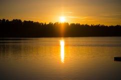 заход солнца 2 Стоковые Фото