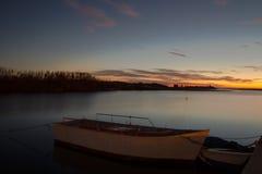 Заход солнца Albufera Стоковые Изображения