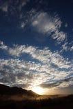 Заход солнца Alice Springs австралийской пустыни Стоковая Фотография