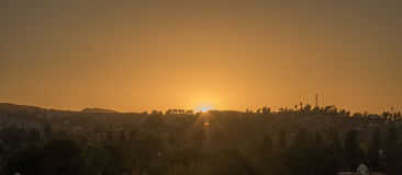 заход солнца angeles los Стоковое Изображение RF